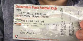 Jamie West Ham tickets