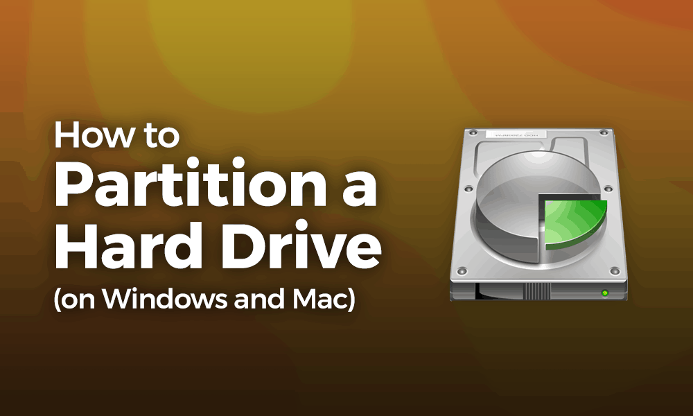 how to partition a HDD