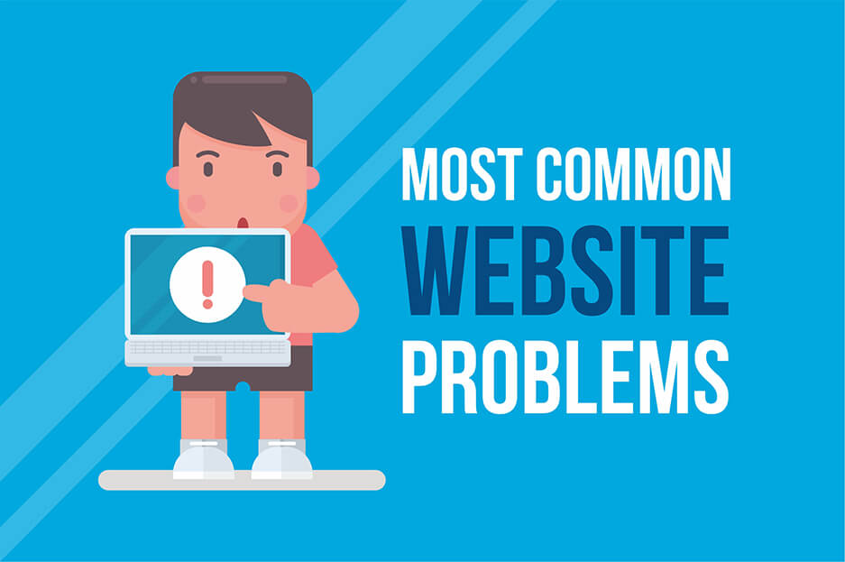 most common website problems
