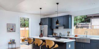Z Series Matte Blue Sail 5 E Mid Century Modern Kitchen Cabinets CabinetDIY
