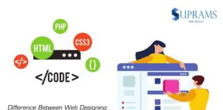 difference web design and development